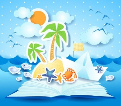 Free vector Vector background  summer beach background 04 vector