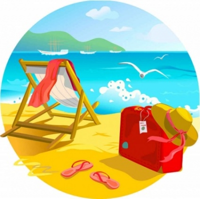 Free vector Vector background  Summer Beach Vector Background