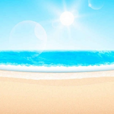 Free vector Vector background  Summer beach-themed vector background