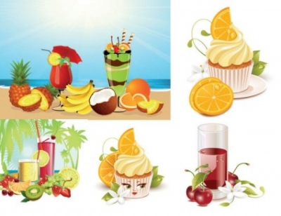 Free vector Vector misc  summer drinks ice cream vector