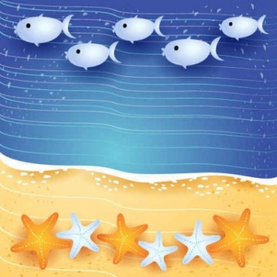 Free vector Vector background  Summer sea fish background