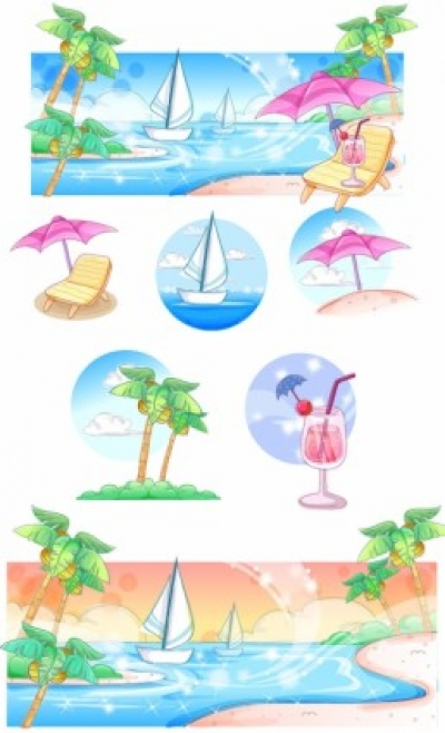 Free vector Vector misc  summer style handdrawn style vector series 3