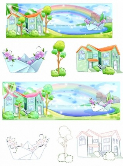 Free vector Vector misc  summer style handdrawn style vector series 5