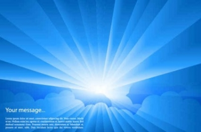 Free vector Vector background  Sun Blue background