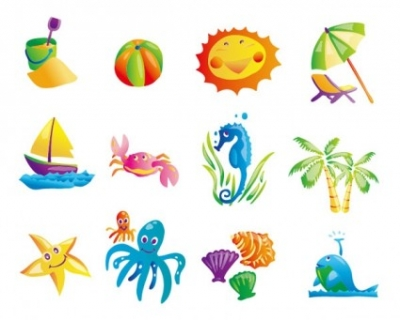 Free vector Vector misc  sunny beach element vector