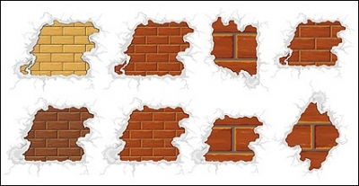 Free vector Vector misc  Surrounded by snow-brick vector material