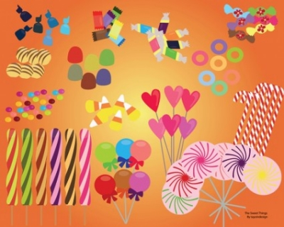 Free vector Vector misc  Sweet Candy Set