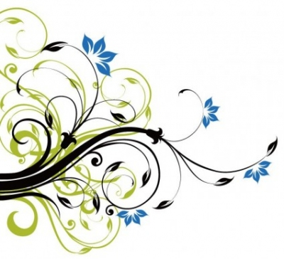 Free vector Vector background  Swirl Floral Decoration Background Vector Graphic