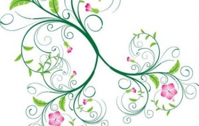 Free vector Vector floral  Swirl Floral Vector