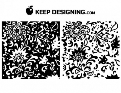 Free vector Vector floral  Swirly Summer Floral Pattern