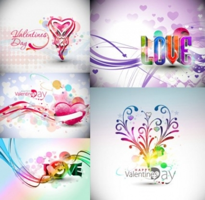 Free vector Vector Heart  symphony valentine day decorations vector