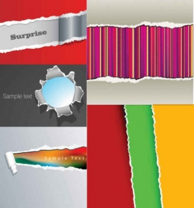 Free vector Vector background  Tear paper background vector background