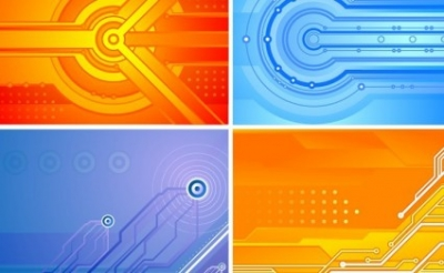 Free vector Vector background  Tech Background Set