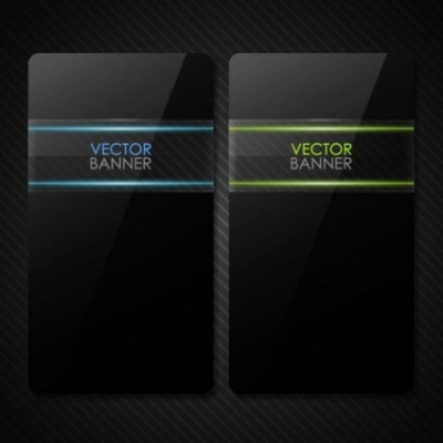 Free vector Vector banner  the black cool banner01vector
