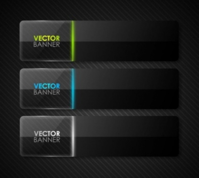 Free vector Vector banner  the black cool banner03vector