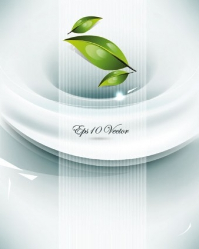 Free vector Vector background  the brilliant dynamic green leafy background 03 vector