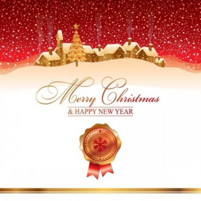 Free vector Vector background  the cartoon christmas house background 04 vector