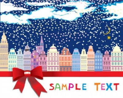Free vector Vector background  the cartoon christmas house background 05 vector