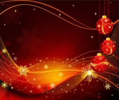 Free vector Vector background  the exquisite christmas ball background 02 vector