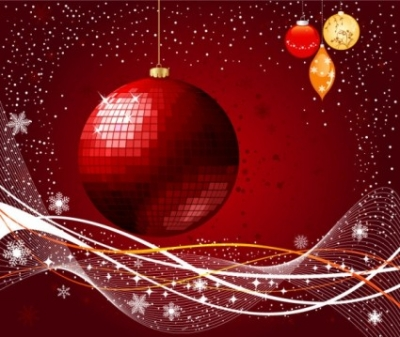 Free vector Vector background  the exquisite christmas ball background 03 vector