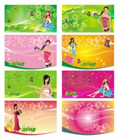 Free vector Vector people  the shopping women supermarkets tag vector