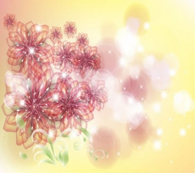 Free vector Vector flower  the trend of flowers background 01 vector