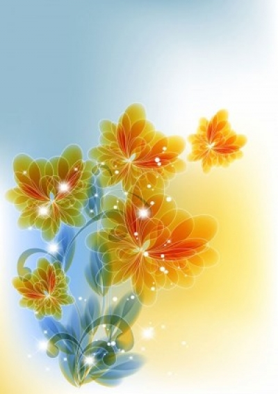 Free vector Vector flower  the trend of flowers background 05 vector