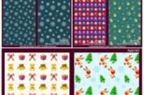 Free vector Vector background  10 lovely christmas element vector base map case background