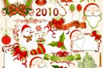 Free vector Vector Christmas  2010 christmas element vector