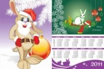 Free vector Vector misc  2011 calendar year of the rabbit vector
