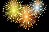 Free vector Vector background  2012 bright fireworks background 02 vector