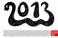 Free vector Vector misc  2013 new year39s theme 01 vector