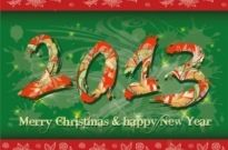 Free vector Vector misc  2013 new year39s theme 02 vector