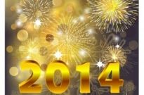 Free vector Vector misc  2014 Beautiful New Year Celebration Background