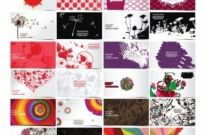 Free vector Vector pattern  24 exquisite fashion pattern business card template 01 vector