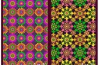 Free vector Vector flower  2 colorful flowers background base map vector artwork