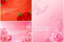 Free vector Vector background  3 beautiful roses background vector