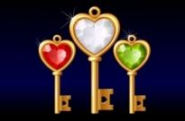 Free vector Vector Heart  3 gold diamond heartshaped key vector