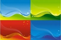Free vector Vector background  3 vector colorful backgrounds