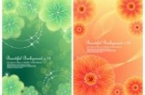 Free vector Vector flower  4 dynamic flower background vector dream