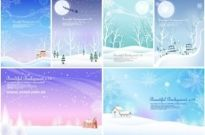Free vector Vector background  6 winter snow background vector