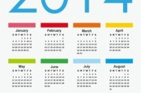 Calendar 2014 Vector Graphic