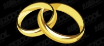 Free vector Vector misc  A pair of gold rings
