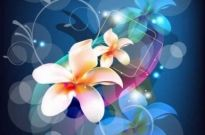 Free vector Vector background  Abstract Background with Flower