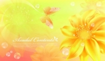 Free vector Vector background  Abstract background with sunflowers