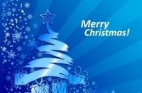 Free vector Vector abstract  Abstract Blue Christmas Background Vector Illustration