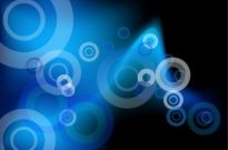 Abstract Blue Circles Vector Background Free vector 1.60MB