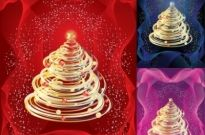 Free vector Vector abstract  Abstract Christmas Tree