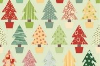 Free vector Vector abstract  Abstract Christmas Tree Seamless Background Vector