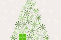 Free vector Vector abstract  Abstract Christmas Tree Vector